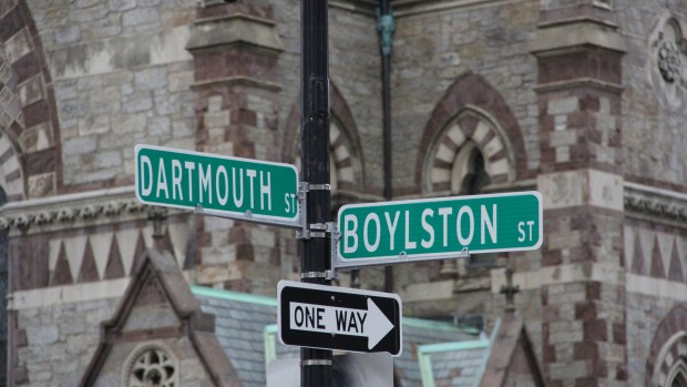 Boston street signs