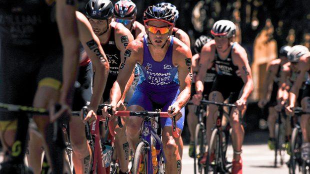 Stateff in bici alla World Cup Cagliari (foto Ballabio)