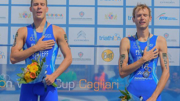 Stateff e Uccellari sul podio a Cagliari (foto Ballabio)