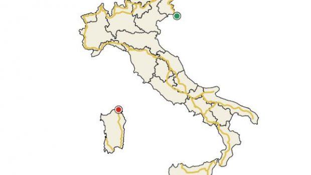 La mappa del Sentiero Italia